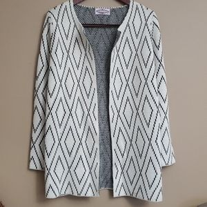 Oliver by escio Geometric Open Cardigan Jacket